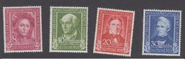 BRD 1949 - Helfer Der Menschheit Michel 117-120 Postfrisch MNH** 120€ Katalogwert! - Nuovi