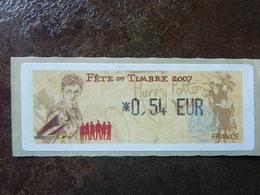 2007 LISA1 FETE DU TIMBRE HARRY POTTER  0,54€ (vendue à La Valeur Faciale)  ** MNH - 1999-2009 Vignettes Illustrées
