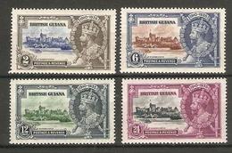 BRITISH GUIANA 1935 SILVER JUBILEE SET SG 301/304 LIGHTLY MOUNTED MINT Cat £24 - British Guiana (...-1966)