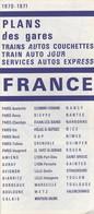 LOT DE 3 PLANS TRAIN AUTO COUCHETTE 1970 - Europe