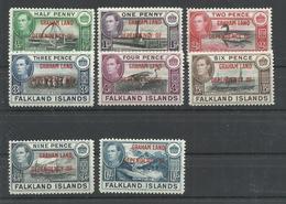 FALKLAND ISLANDS, GRAHAM LAND YVERT  9/16  MH  * - Nuevos