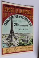 Paris Tour Eiffel Reproduction D Affiche  Chemin De Fer Laris Lyon Mediterranee Exposition Universelle 1889 - Tour Eiffel