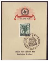 Dt.- Reich (007983) Propaganda Gedenkblatt, Zum Geburtstag Des Führers, 20.4.1938, Dank Dem Retter Des Deutschen Volkes, - Germania