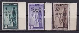 1949 Italia Italy Trieste A  ERP Serie Di 3v. MNH** E.R.P. - 7. Trieste