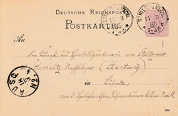 EP Michel P 10 Obl STRELITZ IN MECKL Du 17.3.85 Adressé à Lübeck - Lettres & Documents