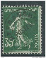 France  Préoblitéré N° 63 XX  Type Semeuse Fond Plein : 35 C. Vert  Sans Charnière, TB - Precancels