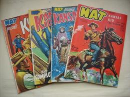 NAT KANSAS KID Quatre Prériodiques Issus D'un Album édition De 1954 - Books, Magazines, Comics