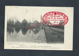 MILITARIA CPA EN FRANCHISE MILITAIRE ARON LES ETANGS CACHET CROIX ROUGE COMITÉDE SAINT MALO 10e CORPS HOPIL N° 4 :: - Postmark Collection (Covers)