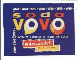 Beaucaire Etiquette Soda Vovo ,p.arnaudet - Labels