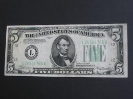 5 Five  Dollar USA 1934  - The United States Of America - Etats-Unis D'Amérique  **** EN ACHAT IMMEDIAT **** - Billetes De Estados Unidos (1928-1953)