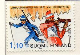 PIA - FINLANDIA - 1980 - Campionati Mondiali Di Biathlon   - (Yv 837) - Sci
