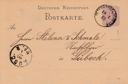EP Michel P 10 Obl PETERSDORF A. FEHMARN Du 13.1.85 Adressé à Lübeck - Lettres & Documents