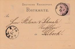 EP Michel P 10 Obl PETERSDORF A. FEHMARN Du 13.1.85 Adressé à Lübeck - Briefe U. Dokumente
