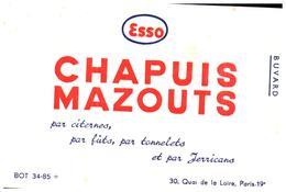M C/Buvard Chapuis Mazouts (Format 16 X 11) (N= 1) - Carte Assorbenti