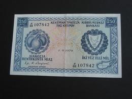 250 Mills 1979 - CHYPRE - Cyprus - Kibris Merkez Bankasi  **** ACHAT IMMEDIAT **** - Zypern