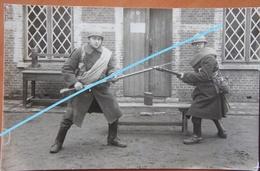 Photo ABL 3ème Régiment D'Infanterie 30's Fusil Mauser Ml 1889 Escrime à La Baïonnette Militaria ABL Leger Soldat - Oorlog, Militair