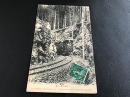 LES VOSGES Le Tramway électrique De La Schlucht Dans La Grande Tranchée - 1913 Timbrée - Francia