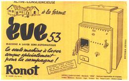 """M C/Buvard Machine A Laver """"Eve"""" (Format  21 X 14) (N= 1) - Carte Assorbenti"""