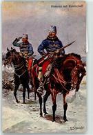 52786620 - Sign. Schnorpfeil Husaren Auf Kundschaft - Weltkrieg 1914-18