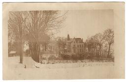 GOEULZIN (59) - CARTE PHOTO - Vue D'une Villa En Hiver (période Supposée 1914 - 1918) - Francia