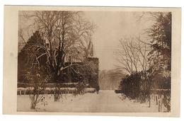 GOEULZIN (59) - CARTE PHOTO - Vue D'un Parc Et Villa En Hiver (période Supposée 1914 - 1918) - Francia