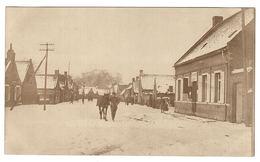 GOEULZIN (59) - CARTE PHOTO - Vue Du Village En Hiver (période Supposée 1914 - 1918) - Francia