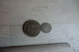 2 Pièces De Monnaies île Maurice-1 Rupee 1950 Et 1/4 Rupee 1950 En Cupro-nickel - Mauricio
