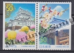 Japan - Japon 2000 Yvert 2934a-35a, Kanagawa Prefecture - Odawara Castle - From Booklet MNH - 1989-... Emperor Akihito (Heisei Era)