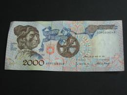 2000 L Escudos Ouro  1991 - Banco De   PORTUGAL  **** EN ACHAT IMMEDIAT **** - Portugal