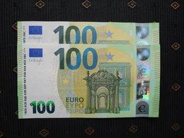 "100 EURO /2019 "" UA"" U002 D1... FRANCE, DRAGHI,  UNC, NEUF, FDS - EURO"