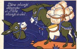 C 6184 - Publicité   Chocolat Debauve & Gallais  30 Rue Des Saints - Pères     Anes Chargés  D'éponges  Et De Sel - Cioccolato
