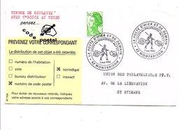 OBLITERATION EXPO LA POSTE D'HIER ET DE DEMAIN à MONTBRISON LOIRE 1983 - Commemorative Postmarks