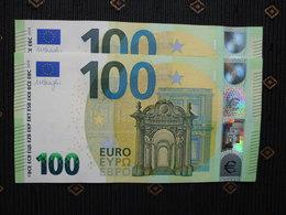 "100 EURO /2019 "" UD"" U002 E5... FRANCE, DRAGHI,  UNC, NEUF, FDS - EURO"