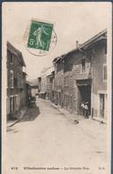Villechenève , La Grande Rue , Pli Coin Haut Droit , Animé - France