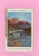 BROCHURE DEPLIANT TOURISTIQUE LAC D'ANNECY PLAN D'ANNECY état Dans Son Jus 1936 Voir Scannes - Tourism Brochures