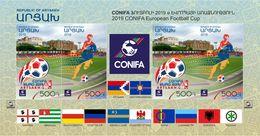 Artsakh - Armenia - Nagorno Karabakh 2019 CONIFA European Football Cup In ARTSAKH Flags Ball Soccer Player Sport MNH** - Armenia