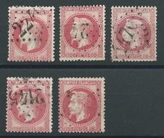 FRANCE - CLASSIQUES : Lot De 5 N°32.  B à TB. - 1863-1870 Napoleon III With Laurels