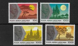 VATICAN - 1990 - POSTE AERIENNE YVERT N° 88/91 ** MNH - COTE = 20 EUR. - Airmail