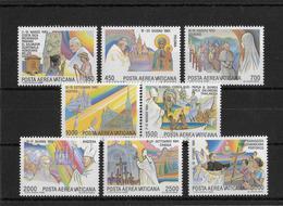 VATICAN - 1986 - POSTE AERIENNE YVERT N° 75/82 ** MNH - COTE = 30 EUR. - Posta Aerea