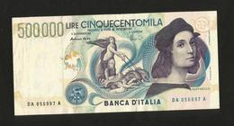 ITALIA - BANCA D' ITALIA - 500000 Lire RAFFAELLO (Firme: Fazio / Amici - 1997) REPUBBLICA ITALIANA - - [ 2] 1946-… : Républic