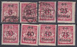 Dantzig N° 165 / 67 O + 168 / 72 X, Partie De Série : Les 8 Valeurs Oblitérées Ou Trace De Charnière Sinon TB - Autres - Europe