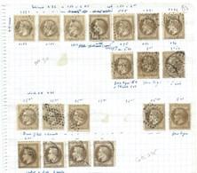 FRANCE - CLASSIQUES : Lot De 19 N°30.  B à TB. Nuances, Cachets.... - 1863-1870 Napoleon III With Laurels