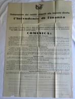 Antico Manifesto, ESTRATTO LEGGE 9 Dicembre 1928 N. 2834, Intendenza Di Finanza, Aprile 1929, VII, E. F. - RVS-4 - Décrets & Lois