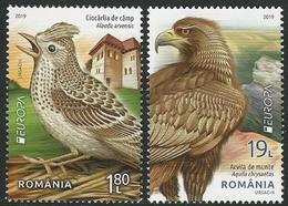 "RUMANIA /ROMANIA /RUMÄNIEN -EUROPA 2019 -NATIONAL BIRDS.-""AVES -BIRDS -VÖGEL -OISEAUX""- SERIE De 2 V. - N - 2019"