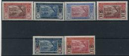 1934-5 Costa D'Avorio, Laguna Veduta, Serie Cimpleta Nuova (*) Linguellata - Costa D'Avorio (1892-1944)