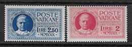 VATICAN - 1929 - EXPRES YVERT N° 1/2 * MH - COTE = 45 EUR. - Vatican