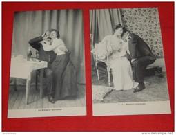 """FANTAISIES - HUMOUR -  Lot De 6 Cartes : """" Le Médecin Improvisé """" , Historiette Humoristique - - Humour"""