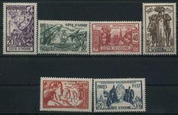 1937 Costa D'Avorio, Esposizione Internazionale Parigi, Serie Completa Nuova (*) Linguellata - Costa D'Avorio (1892-1944)