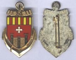 Insigne Du 38e Groupement De Camp Du 24e Régiment D'Infanterie De Marine - Armée De Terre