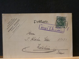 A9121 CP  OBL. WISCH (ELSASS)  1914  CENSURE - Germany